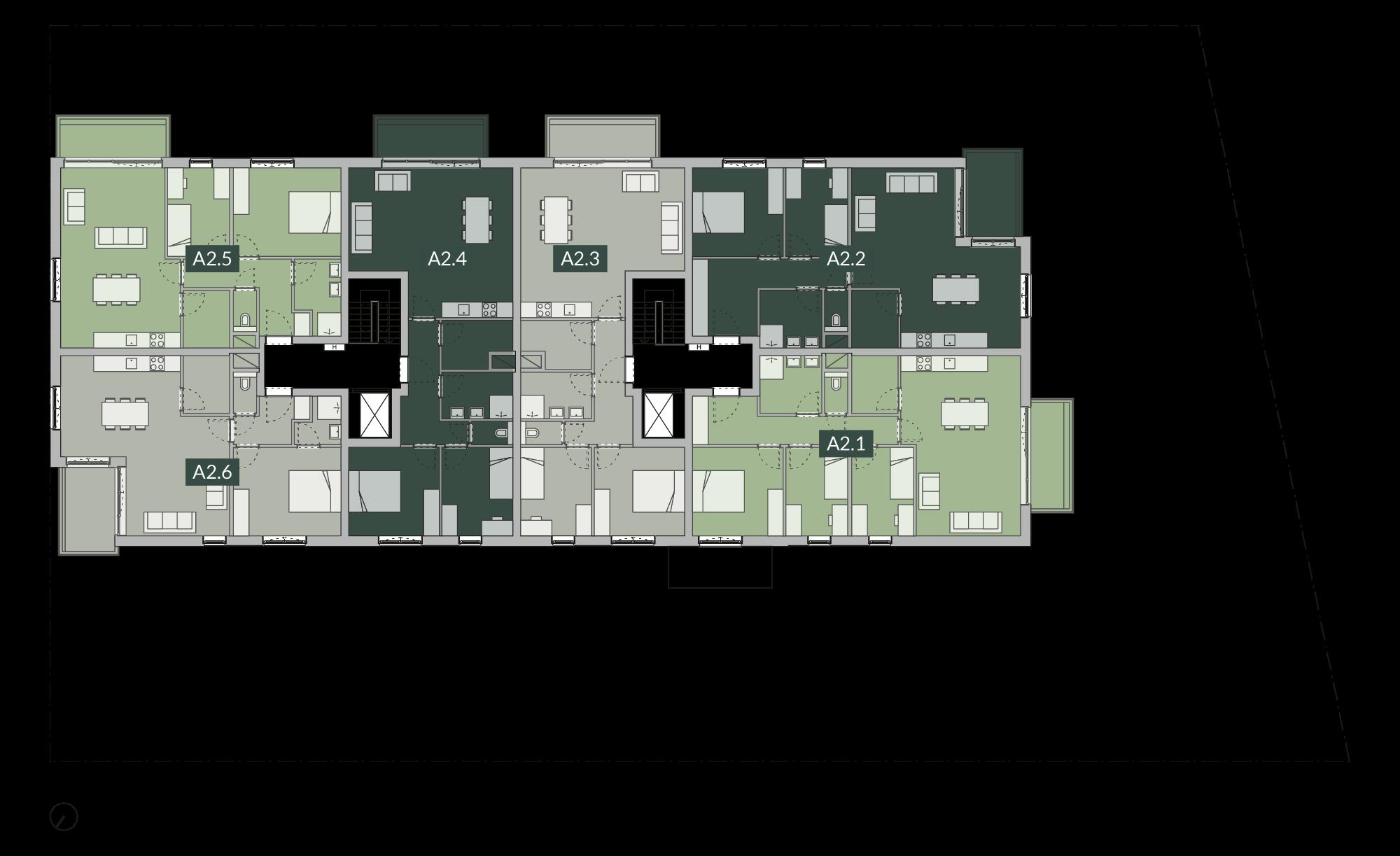 Verdiepingsplan Tweede verdiep
